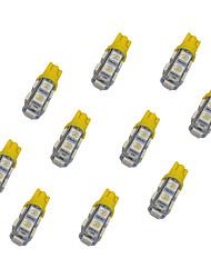 Недорогие -10pcs t10 9 * 5050 smd вело свет электрической лампочки автомобиля dc12v