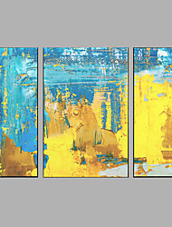 Hand-Painted Modern City Landscape Oil Painting Three Panel Canvas Oil Painting Multi Split Oil Painting