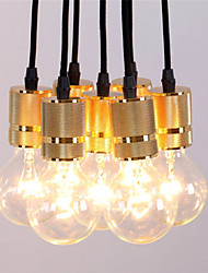 Vintage Industrial Gold 7 Heads Pendant Light Design Living Room Dining Room Chandeliers