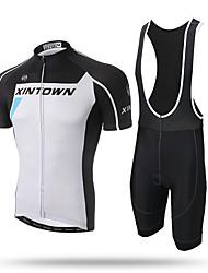Xintown® road racing cykel cykel kortærmet tøj sæt cykel mænd jersey bib 3d polstret shorts
