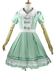 cheap -Sweet Lolita Dress Princess Women's Kid's Girls' One Piece Dress Cosplay Petal Short Sleeves