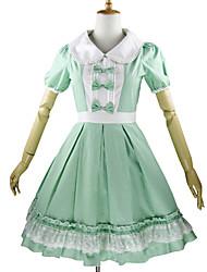preiswerte -Niedlich Prinzessin Damen Kinder Mädchen Einteilig Kleid Cosplay Blütenblatt Kurzarm