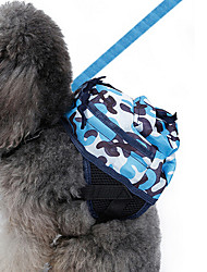 Недорогие -Собака рюкзак Одежда для собак камуфляж Синий Парусина Костюм Для домашних животных Муж. Жен. Классика Очаровательный На каждый день