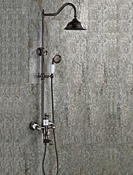 preiswerte -Moderne Antike Art déco/Retro Mittellage Wasserfall Regendusche Handdusche inklusive Mit ausziehbarer Brause Keramisches Ventil Ein Loch