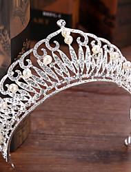 abordables -Imitation de perle Strass Alliage Diadèmes 1 Mariage Casque