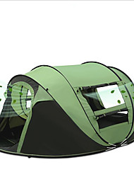 3-4 persone Tenda Singolo Tenda da campeggio Una camera Pop up tenda Ompermeabile Portatile Antivento Anti-pioggia Anti-insetti