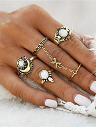 preiswerte -Damen Ring Synthetischer Opal Geometrisch Einzigartiges Design Retro Kreis Euramerican Modisch Simple Style Punk Synthetische Edelsteine