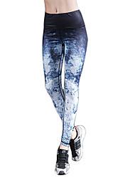preiswerte -Yoga-Hose Strumpfhosen/Lange Radhose Leggins Atmungsaktiv Rasche Trocknung Normal Hochelastisch Sportbekleidung DamenYoga Pilates Übung &