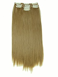 cheap -False Hair Extension 11 Clips Clip in Hair Extensions Synthetic Hair Apply Hairpiece 22 Long Straight Hairpieces D1020 27#