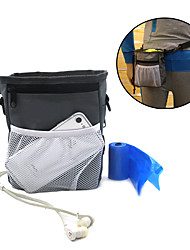 cheap -Dog Bowls & Treat Pouch Bag Pet Bowls & Waste Bag  Feeding Training Waterproof Portable Gray
