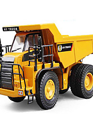 Die-Cast Vehicles Toy Cars Toys Truck Construction Vehicle Excavator Square Truck Excavating Machinery Metal Alloy Plastic Kids Gift