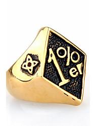 cheap -Men's Ring Statement Ring Gold Black Red Titanium Steel Geometric Personalized Euramerican Hip-Hop Fashion Rock Punk Christmas Gifts