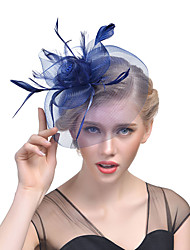 cheap -Women's Hat Solid Color Mesh Elegant Fashion Acrylic Hair Clip