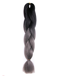 Dark gray synthetic braiding hair Extension Ombre Braiding Hair 100% High Temperature Fiber 100g/pcs two Tone synthetic hair