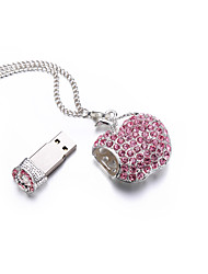 Espumante cristal pulseira charme usb flash drive disco flash 16gb
