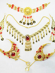 Belly Dance Headpieces Women's Performance Metal 6 Pieces Necklace Bracelets Headpieces