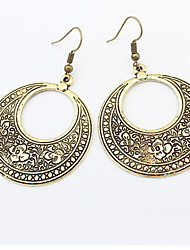 cheap -Men's Women's Drop Earrings Jewelry Basic Unique Design Dangling Style Pendant Heart Circle Friendship Africa Simple Style Durable USA