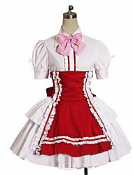 cheap -Sweet Lolita Dress Princess Women's Girls' Maid Suits Cosplay Short Sleeves Knee Length