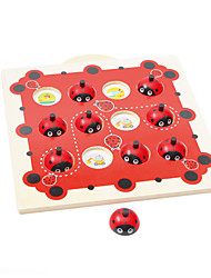 cheap -Board Game Wood Pieces Unisex Kid's Gift
