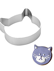 1Pcs  Cat Head Shaped Kitchen Tools Aluminium Alloy Fondant Cookie Cake Sugarcraft Plunger Cutter