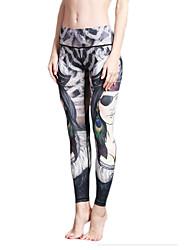 Yoga-Hose Strumpfhosen/Lange Radhose Leggins Atmungsaktiv Rasche Trocknung Normal Hochelastisch Sportbekleidung DamenYoga Pilates Übung &