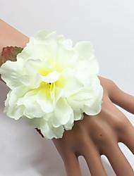 abordables -Fleurs de mariage Bouquets Petit bouquet de fleurs au poignet Autres Mariage Occasion spéciale Fête / Soirée De plein air Matière Satin