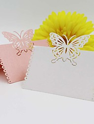 economico -Carta satinata Luogo Card Holders Supporto Borsa plexiglas