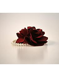 abordables -Fleurs de mariage Bouquets Petit bouquet de fleurs au poignet Autres Mariage Fête / Soirée Matière Strass Satin 0-20cm