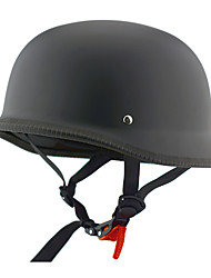 cheap -Motorcycle Half Face Helmet Black Frosted ABS Cruiser Street Helmet
