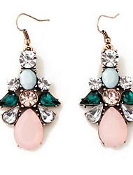 Жен. Серьги-слезки Multi-камень Синтетический алмаз В виде подвески Мода Euramerican Синтетические драгоценные камни Циркон Бижутерия