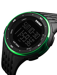 cheap -SKMEI® 1219 Men's Woman  Double Significant Outdoor Sports Watch Mountain Climbing 50M Waterproof Electronic Watch Male LED Students Multi-Function