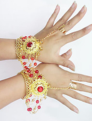 Belly Dance Jewelry Women's Performance Metal Crystal Detailing 2 Pieces Bracelets
