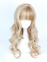 abordables -Pelucas Lolita Amaloli Marrón Gradiente de Color Peluca de Lolita  70-80 CM Pelucas de Cosplay Pelucas Para