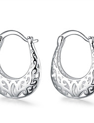 Women's Hoop Earrings Jewelry Basic Unique Design Dangling Style Natural Geometric Square Friendship Fashion Vintage Bohemian Punk