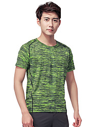 cheap -LEIBINDI Men's Running T-Shirt Short Sleeves Quick Dry Wearable Breathable Comfortable T-shirt Top for Exercise & Fitness Leisure Sports