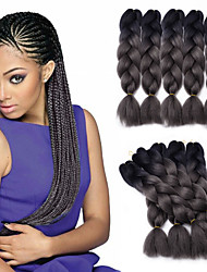 cheap -Box Braids Ombre Braiding Hair 100% kanekalon hair Jumbo Hair Braids