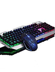 retroilluminazione di gioco USB della tastiera illuminazione dei tasti e 2500dpi screpolature del mouse 2 parti del kit