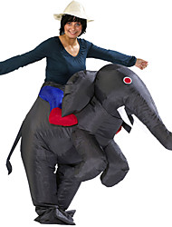 cheap -Elephant Cosplay Costume Waterproof  Costume Inflatable Costume Halloween Props Movie Cosplay Gray & Black Leotard / Onesie Air Blower