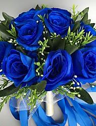 economico -Bouquet sposa Tondo Rose Bouquet Matrimonio Raso 28cm