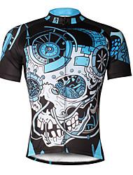 Велокофты Муж. С короткими рукавами Велоспорт Джерси Верхняя часть Быстровысыхающий Ультрафиолетовая устойчивость Дышащий Мягкий Сжатие