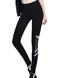 Women's Fashion Print Breathable Quick Dry Compression Stretch Yoga Sports Tights Pants Fitness Running Leggings Spring/Summer Rainbow