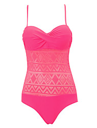 cheap -Womens Sexy Push Up Lace High Rise Fashion One-piece  Solid Swimsuit (S-2XL)
