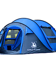 GAZELLE OUTDOORS 3-4 persons Tent Single Camping Tent One Room Pop up tent Waterproof Windproof Ultraviolet Resistant Foldable for Hiking