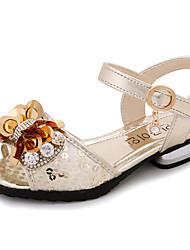 Girls' Sandals Summer Fall Comfort Novelty Flower Girl Shoes PU Outdoor Party & Evening Dress Casual Walking Flat Heel Bowknot Buckle