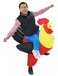 cheap -Chicken Cosplay Costume Inflatable Costume Masquerade Halloween Props Movie Cosplay Leotard / Onesie Air Blower Christmas Halloween