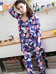 Ensemble de pyjama super doux à motifs floraux 3pcs