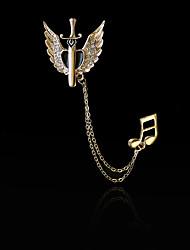Da donna Maschio Altro Spille Personalizzato Hip-hop Euramerican Placcato in oro Lega A forma di cuore Ali / Piume Gioielli PerQuotidiano