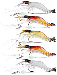 "cheap -5 pcs Soft Bait Fishing Hooks Fishing Lures Jerkbaits Craws / Shrimp Soft Bait Multicolored Transparent g/Ounce,90 mm/3-1/2"" inch,Soft"