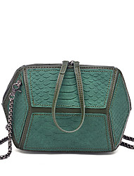 Women Bags All Seasons PU Shoulder Bag for Wedding Event/Party Casual Sports Formal Outdoor Office & Career White Black Dark Green