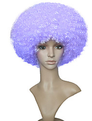 billige -Syntetiske parykker Afro Bob frisure Syntetisk hår Afro-amerikansk paryk Lilla Paryk Dame Kort Lågløs Lilla
